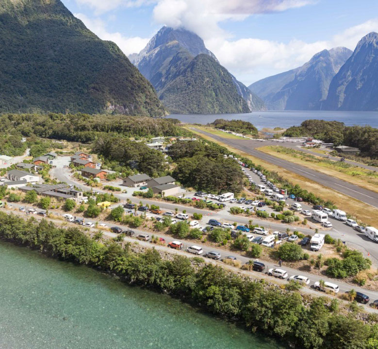Milford Sound Car Park